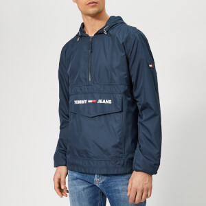 Tommy Jeans Men's Nylon Pop Over Jacket - Navy