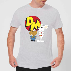 Danger Mouse DM And Penfold Men's T-Shirt - Grey