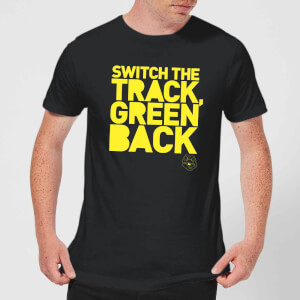 Danger Mouse Switch The Track Green Back Men's T-Shirt - Black