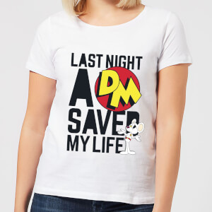 Danger Mouse Last Night A DM Saved My Life Women's T-Shirt - White