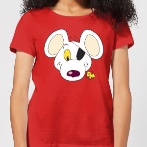 Danger Mouse Face & Logo Damen T-Shirt - Rot