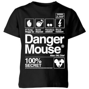 Danger Mouse 100% Secret Kids' T-Shirt - Black
