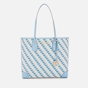 MICHAEL MICHAEL KORS Women's Eva Large Tote Bag - Optic White (Blue Logo)
