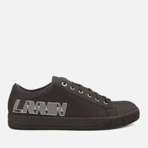 Lanvin Men's Low Top Logo Sneakers - Black