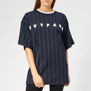 Ivy Park Women's Pinstripe T-Shirt - Ink
