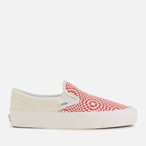 Vans Anaheim Classic Slip-On 98 DX Trainers - Og Red/White/Warp Check
