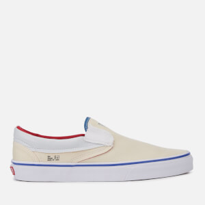 Vans Men's Outside in Classic Slip-On Trainers - Natural/Stv Navy/Red