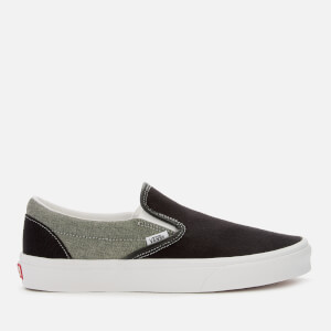 Vans Men's Chambray Slip-On Trainers - Canvas Black/True White