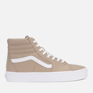 Vans Women's Leather Sk8-Hi Trainers - Humus/True White