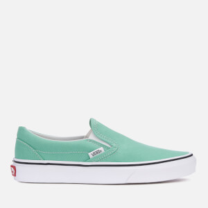 Vans Women's Classic Slip-On Trainers - Neptune Green/True White