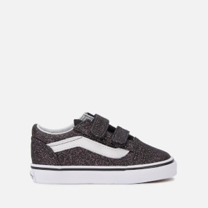 Vans Toddlers' Glitter Stars Old Skool Velcro Trainers - Black/True White