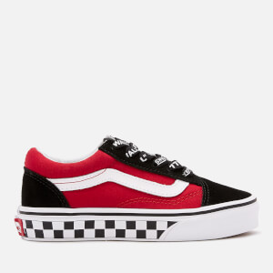 Vans Kids' Logo Pop Old Skool Trainers - Black/True White