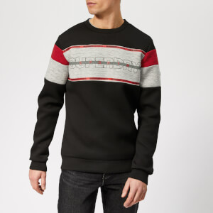 Superdry Sport Men's Gym Tech Cut Crew Neck Sweatshirt - Black-City