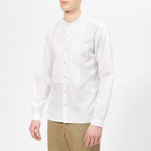 Oliver Spencer Men's Bib Grandad Shirt - Abbott White