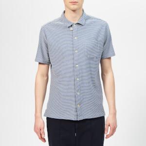 Oliver Spencer Men's Hawaiian Jersey Shirt - Arman Blue