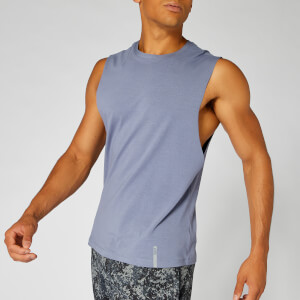Luxe Classic Sleeveless T-Shirt — Dark Blue