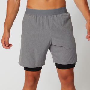 Power Double-Layered Shorts - Grey
