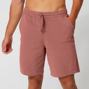 Washed Sweatshorts - Rood
