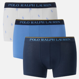 Polo Ralph Lauren Men's 3 Pack Classic Trunk Boxer Shorts - Cruise Navy/Bermuda Blue/White