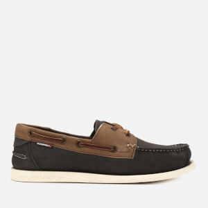 Superdry Men's Leather Boat Shoes - Brown/Navy Milled Nubuck