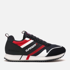 Superdry Men's Fero Runner Style Trainers - Dark Navy/White/True Red