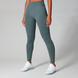 Power Mesh Leggings - Harmaa