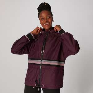 MP Women's Sleeve Stripe Windbreaker Jacket - Malbec