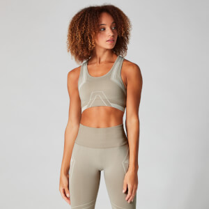Myprotein Seamless Ultra Tonal Sports Bra - Sesame/Moonbeam