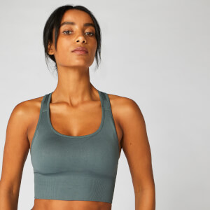 Shape Naadloze Cross-Strap Bra — Grey