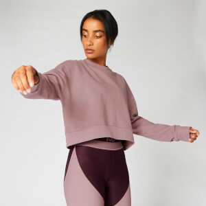 Myprotein Zip Detail Crop Sweater - Fawn