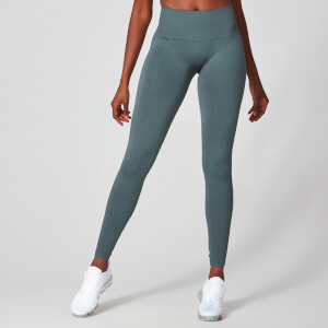 Myprotein Luxe Ribbed Seamless Leggings - Castle Rock