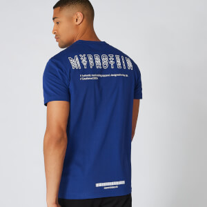 Myprotein Crew Neck Triple Graphic T-Shirt - Marine