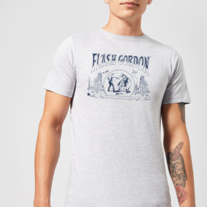 Flash Gordon Chest Piece Men's T-Shirt - Grey