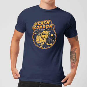 T-Shirt Flash Gordon Flash Retro Comic - Blu Navy - Uomo