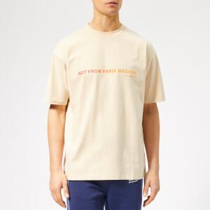 Drôle de Monsieur Men's Shaded Slogan T-Shirt - Beige