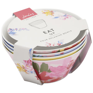 Joules 4 Pack Garden Bowls - Yellow