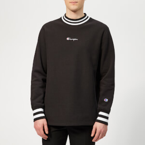 Champion Men's High Neck Sweatshirt - Black