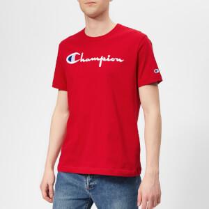 Champion Men's Script T-Shirt - Red