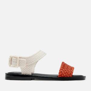Melissa Women's Salinas Mar Braid Double Strap Sandals - Tan Contrast
