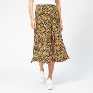Whistles Women's Lara Zig Zag Skirt - Yellow/Multi