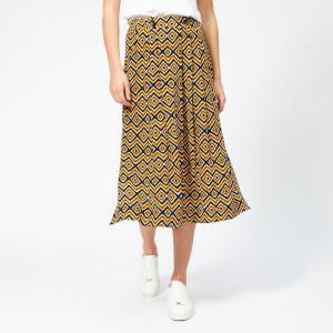 Whistles Women's Lara Zig Zag Skirt - Yellow/Multi