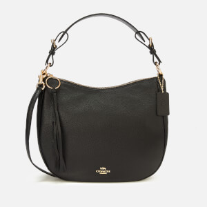 Coach Women's Leather Sutton Hobo Bag - Black