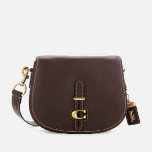 Coach Women's Glovetan Leather Update Saddle Bag - Oxblood