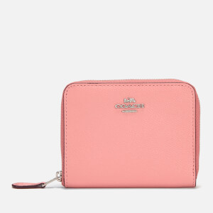 Coach Women's Crossgrain Leather Small Zip Around Wallet - Light Blush