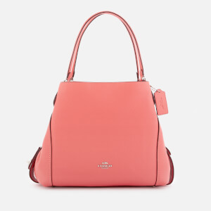 Coach Women's Polished Pebble Leather Edie 31 Shoulder Bag - Bright Coral