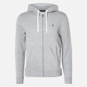 Jack Wills Men's Pinebrook Zip Hoodie - Grey Marl