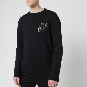 Versace Collection Men's Logo Sweatshirt - Black/Paint