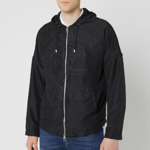 Versace Collection Men's Hooded Medusa Jacket - Black