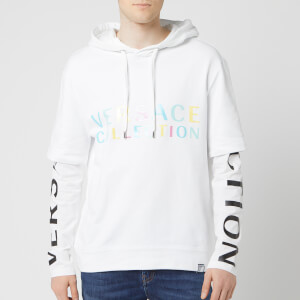 Versace Collection Men's Layer Hoodie - White