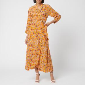 HUGO Women's Kerlina Floral Wrap Dress - Orange Floral